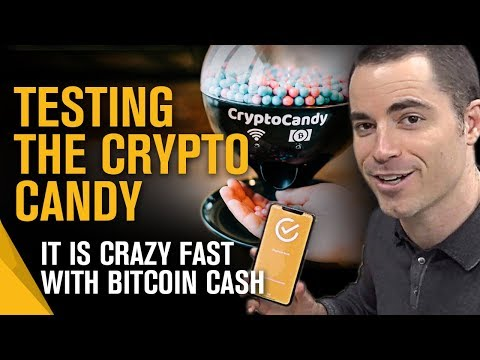 Roger Ver Tests The Crypto Candy In Action - It Is Super Fast With Bitcoin Cash!