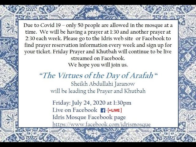 The Virtues of the Day of Arafah By Sheikh Abdullahi Jaranow