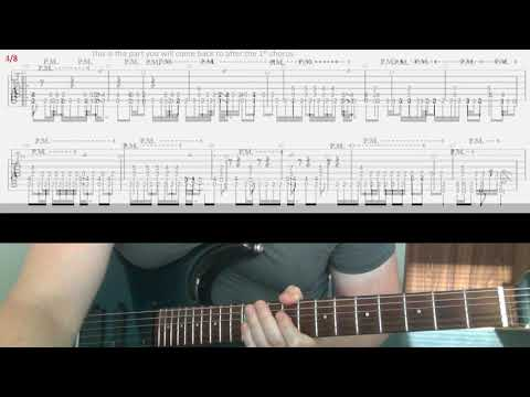 Metallica Dyers Eve part 1 tab guitar lesson intro verse chorus