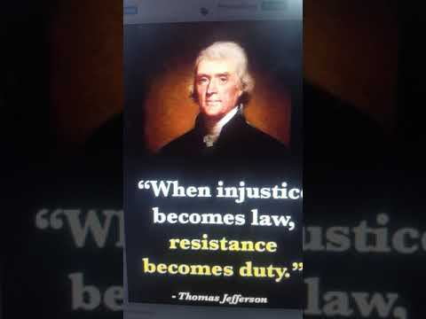 Thomas Jefferson 3rd President . Injustice Becomes Law