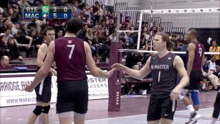 OUA Men's Volleyball Final Four Game 4 McMaster vs Ryerson 4_3_16 thumbnail