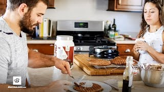 Double Chocolate Chip Protein Waffles Recipe | Feeding the Frasers