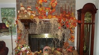 How I Decorate My Mantel And Fireplace For Fall