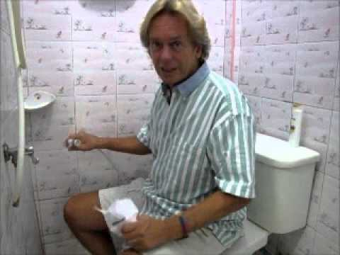 How To Use Squat Or Hand Sprayer Toilet In Thailand Youtube