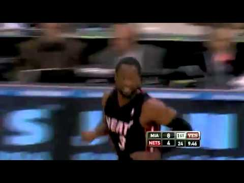 Dwyane Wade Alley-Oop to LeBron James for the Two-...