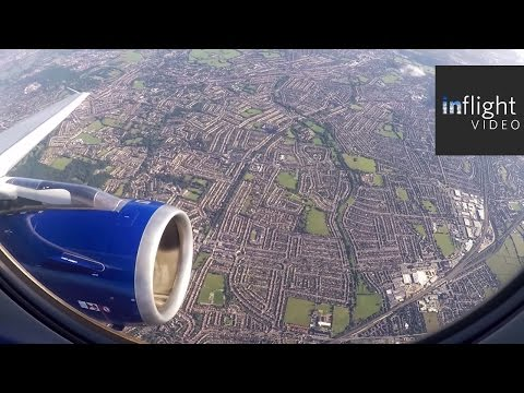 ATC: Busy Approach and Landing to London Heathrow (British Airways Airbus A319)