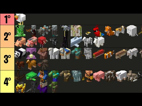 RANKEANDO os MOBS do Minecraft! 🤩