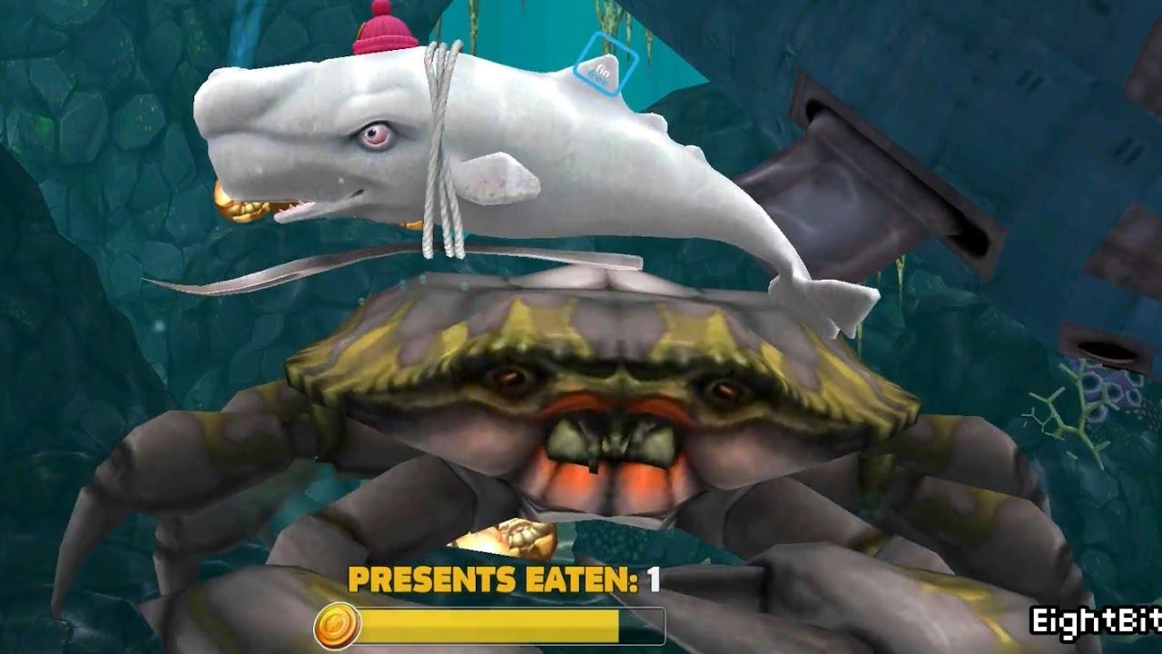 Hungry shark evolution megalodon vs giant crab - photo#50