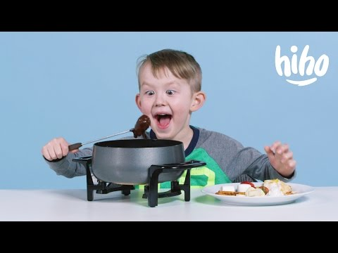 American Kids try Fondue | Kids Try | HiHo Kids