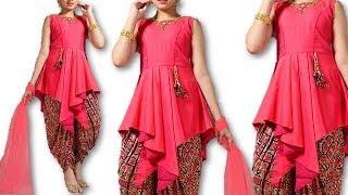 DIY Stylish Indowestern designer kurti for 10 to 12 year baby girls cutting stitching