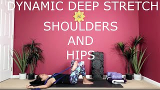 Dynamic Deep Stretch for the Shoulders and Hips