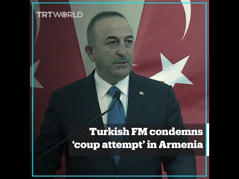 Turkey condemns 'coup attempt' in Armenia