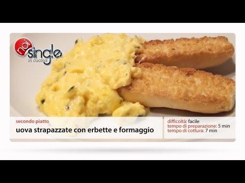 Uova strapazzate con erbette e formaggio