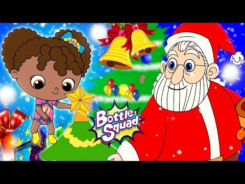 Jingle Bells | Christmas Rhymes | Bottle Squad Superhero Videos | Christmas Songs For Kids