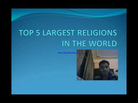 Top Biggest Religion In The World YouTube - Top 5 largest religions in the world