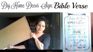 Diy Sign Bible Verse