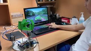 아주자동차대학 4축 모션 시뮬레이터 모형 제작