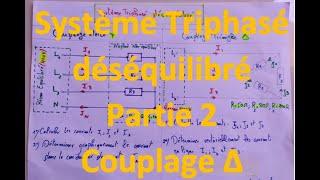 Système Triphasé Déséquilibré couplage Triangle