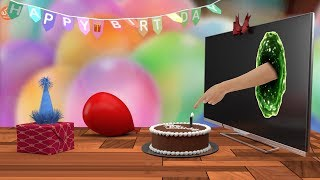 Magical Happy Birthday ( Traditional ) | Footage and Green Screen