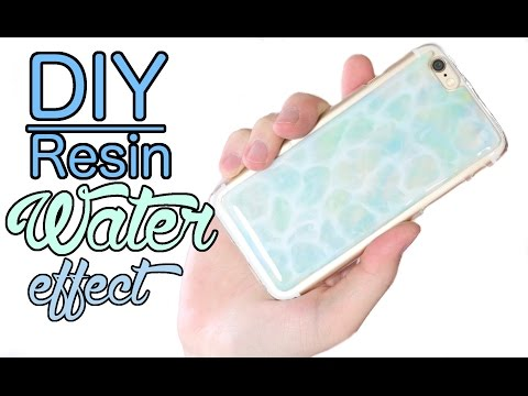 DIY SIMPLE Resin Water Effect Phone Case Tutorial ft. DaCraftyLilNinja
