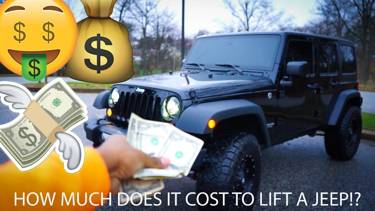how much does it cost to lift a jeep wrangler youtube. Black Bedroom Furniture Sets. Home Design Ideas