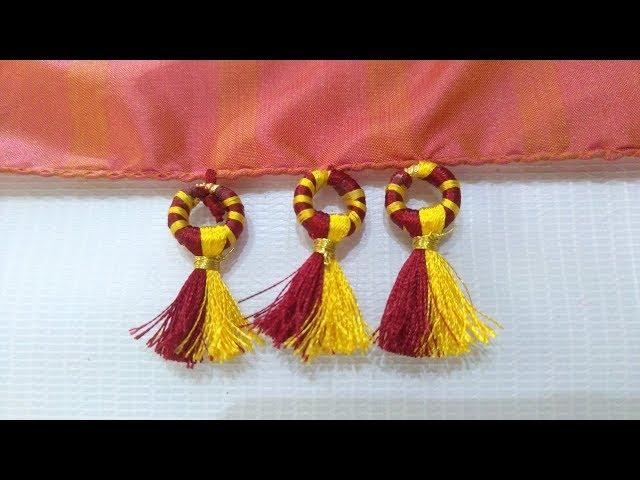 Donut ring Saree Kuchu I Latest Design saree tassels I Ladies Club