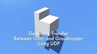 Geometry transfer between Unity and Grasshopper using UDP