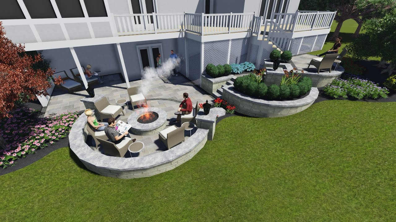 Walkout basement patio youtube for Walkout basement patio ideas
