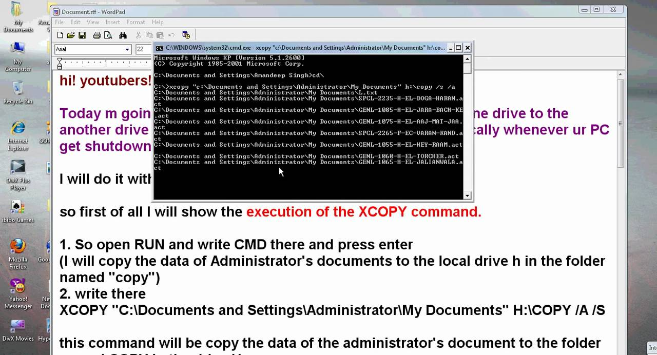 batch file command to overwrite all