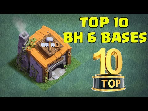 TOP 10 BEST Builder Hall 6 BH6 Base Designs NEW CoC Builder Base Update | Clash Of Clans
