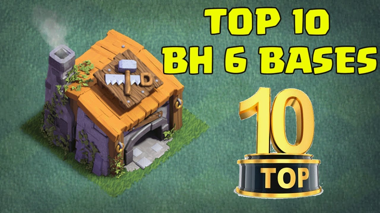 Top 10 Best Builder Hall 6 Bh6 Base Designs New Coc