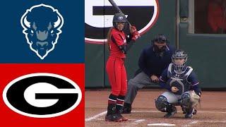 Howard vs #17 Georgia   2020 College Softball Highlights
