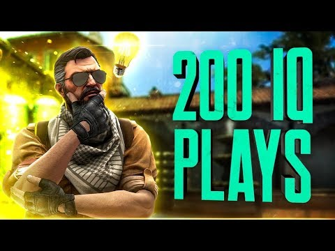 WHEN CS:GO PROS USE THEIR SMARTS FOR INSANE PLAYS! (200IQ PLAYS)
