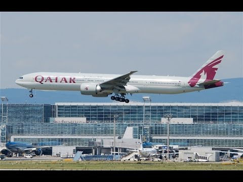 Qatar Airways Landing At Kuwait Airport