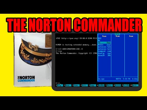 The Norton Commander 3.0 DOS file manager -- Unboxing / Box Contents, Installing