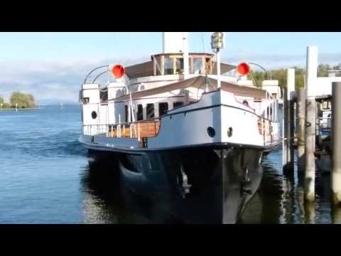 Paddle wheel steamship HOHENTWIEL on Lake Constance 01