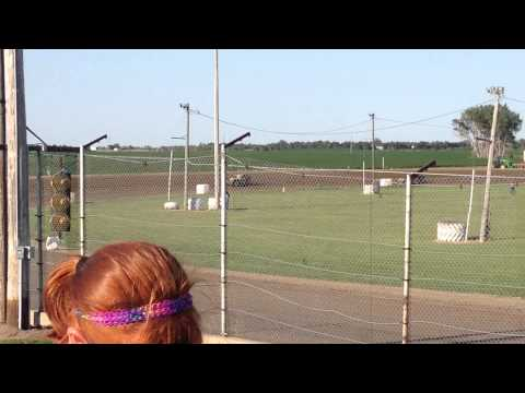 Colby Jensen Midwest Modified Heat Race Miller Speedway August 2 2015 #2
