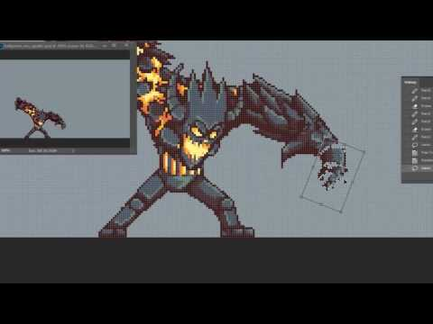 Lava Golem Evolution Attack Animation - 20 Minutes Version!