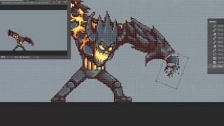 Lava Golem evolution Attack animation - 20 minutes version!