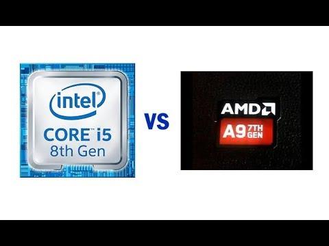 Amd A9 9400 Vs Intel I5 8250u Cual Comprar Cual Es Mejor Youtube