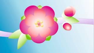 CorelDRAW.  Видео урок 1.  Цветок сакуры (1 часть).  Основные инструменты + интерактивная заливка