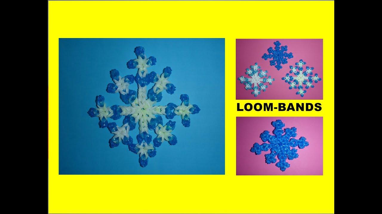 diy loom bands schneeflocke geschenk zu weihnachten easy snowflake youtube. Black Bedroom Furniture Sets. Home Design Ideas