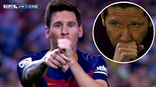 The day Simeone refused to celebrate a goal because of Messi ||1080P||
