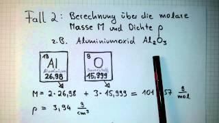 molares Volumen ausrechnen - Chemie-Aufgaben lösen