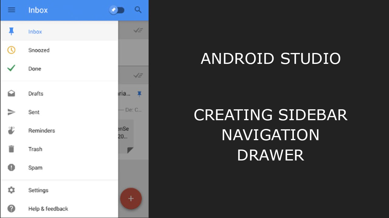 A Standard Dismissible Navigation Drawer Is Opened And Closed By Ting The Menu Icon In Top Bar 1 Remains Open Until