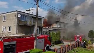 Pożar domu w Gorzowie Wlkp.1.05.2015