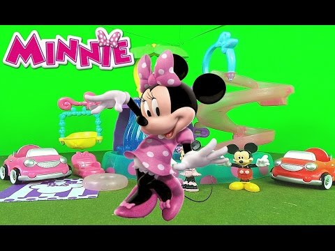 Fisher-Price Minnie Mouse Polka Dot Pool Party Surprise with Mickey Mouse in Spiral Slide 'n Swing