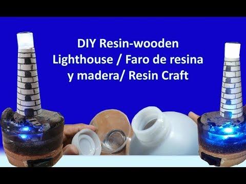 DIY Resin-wooden Lighthouse / Faro de resina y madera/ Resin Craft