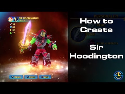 Skylanders Imaginators - How to Create Sir Hoodington