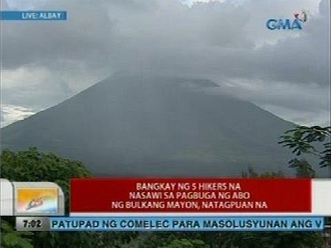 Bangkay ng 5 na hikers na nasawi sa pagbuga ng abo ng bulkang Mayon, natagpuan na